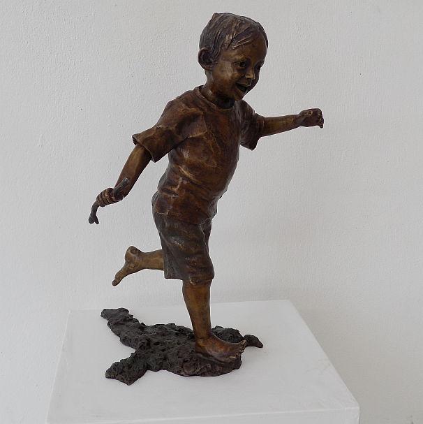 Running Boy With Stick_R33,660